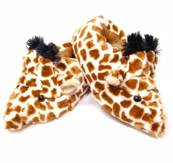 Plüsch Hausschuhe Giraffe - Größe S bis XXL