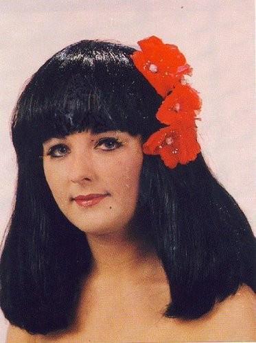 Faschingsperücken Damen: Carmen, mit Blüten 1