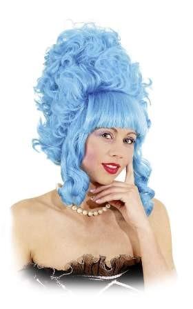 Perücke Lady Pompadur, blau