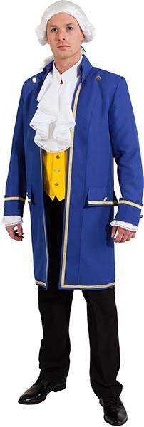 Lord-Jacke blau (mit Futterstoff und Innentasche) - Größe: 46/48 - 58/60
