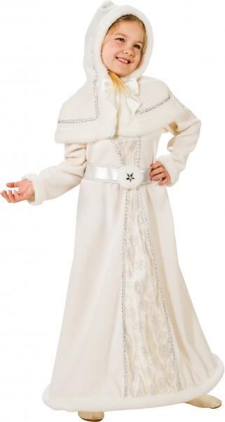 Fasching Kostüm Kinder Schneekönigin - Kleid mit Reifrock, Cape, Gürtel