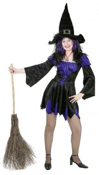 Hexe Melissa, lila-schwarz (Kleid) - Größe: 36 - 42