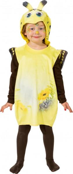 Fasching Kostüm Kinder Schmetterling gelb Weste - Weste mit Kapuze Gr. 104