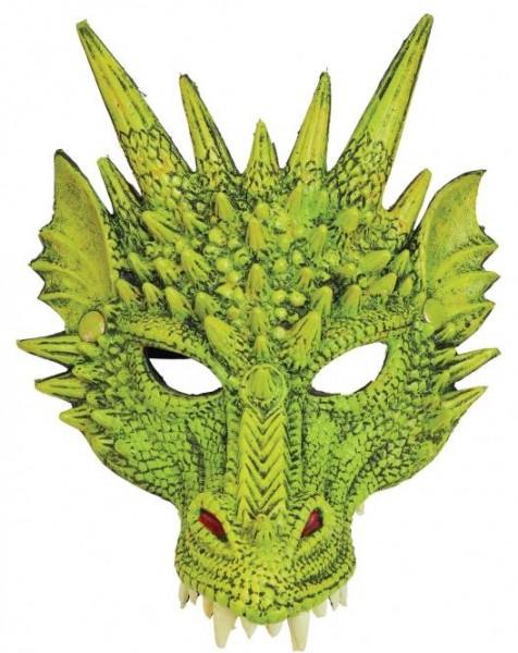 Fasching Maske Drache in rot, grün oder lila