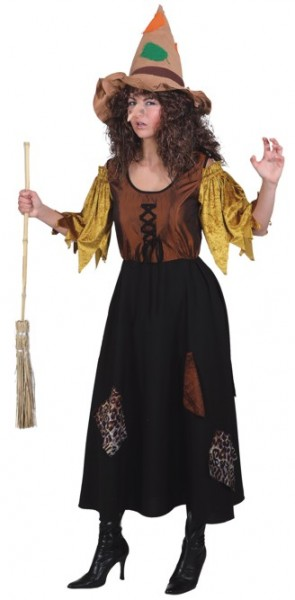 Faschingskostüm Damen Kleid Fetzenhexe - Größe: 38 - 48