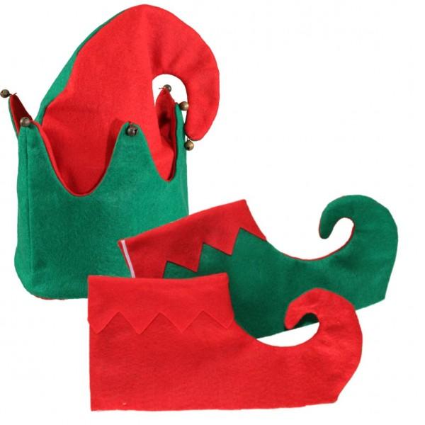 Elfen-Set (Mütze,Gamaschen)