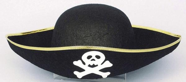 Faschingshut Piratenhut für Kinder - Kopfweite 55
