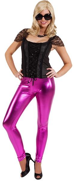 Leggings, pink glänzend in den Größen S/M und L/XL