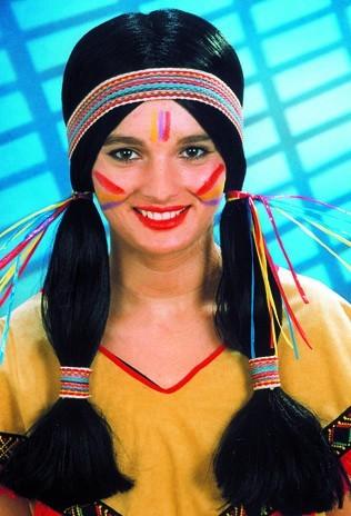 Faschingsperücke Damen Indian Girl