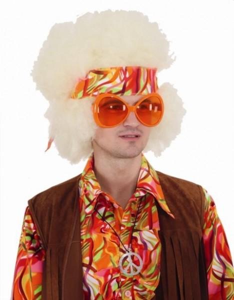 Faschingszubehör Coole Sonnenbrille orange