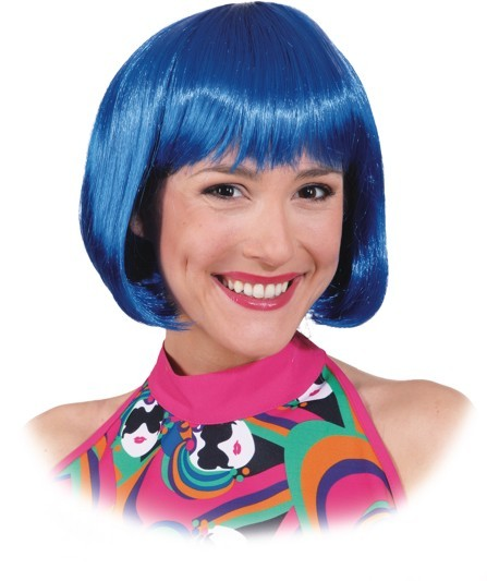 Perücke Sexy Lola, blau