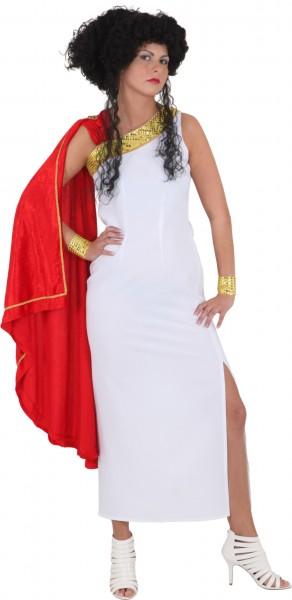 Faschingskostüm Damen Römerin - Kleid mit Armstulpen - Größe: 36 - 46