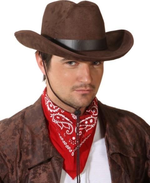 Faschingshut Cowboyhut John - in schwarz oder braun - Kopfweite 59