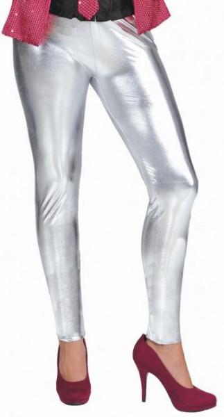Leggings, silber in den Größen S/M und L/XL