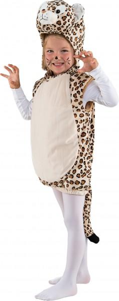 Kinderkostüm Leoparden Weste mit Kapuze, Gr. 104
