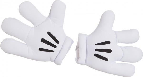 Faschingszubehör Jumbo-Handschuhe Maus