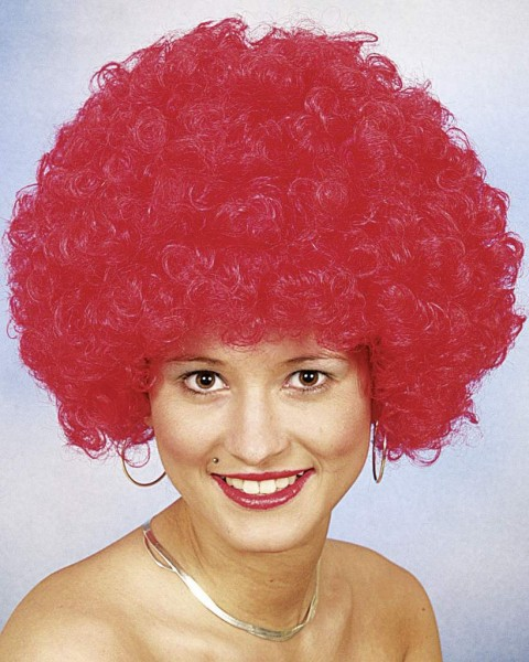 Perücke Hair große Locke, rot