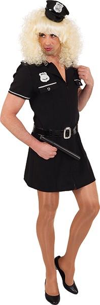 Polizeikleid für Herren (Kleid mit Gürtel) - Größe: 46/48 - 58/60