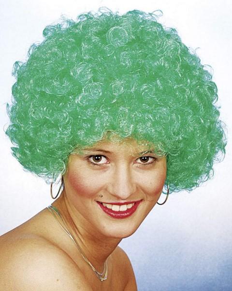 Faschingsperücke Hair, kleine Locke grün