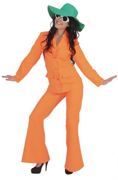 Neon Anzug, neon-orange (Jacke, Hose) - Größe: 34 - 44