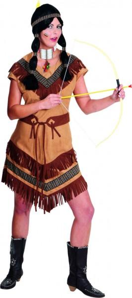 Indianerin Cheyenne (Kleid, Gürtel) - Größe: 36 - 52