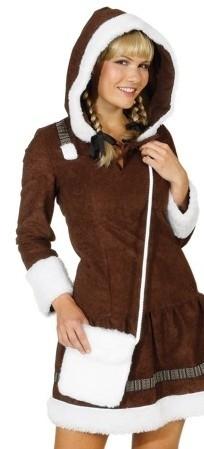 Faschingszubehör: Felltasche weiß für Eskimo Kostüm