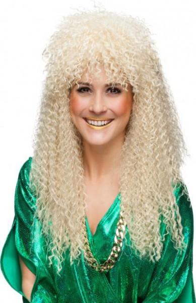 80er Jahre Perücke gelockt blond