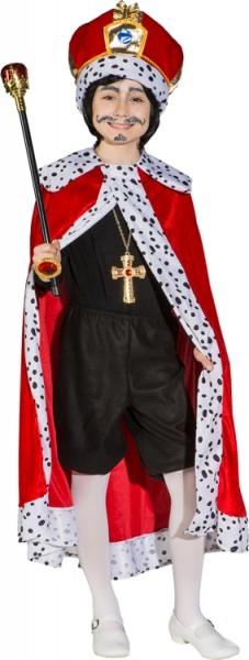 Fasching Kostüm Kinder König - Umhang rot