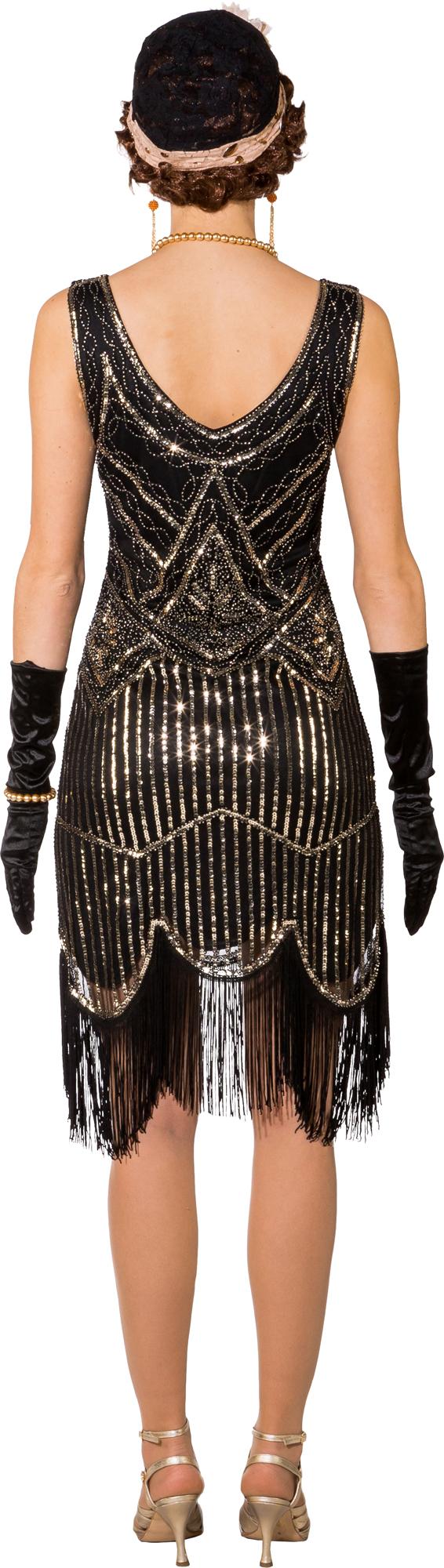 Fasching Kostüm Damen Charleston 20er Jahre Kleid schwarz ...