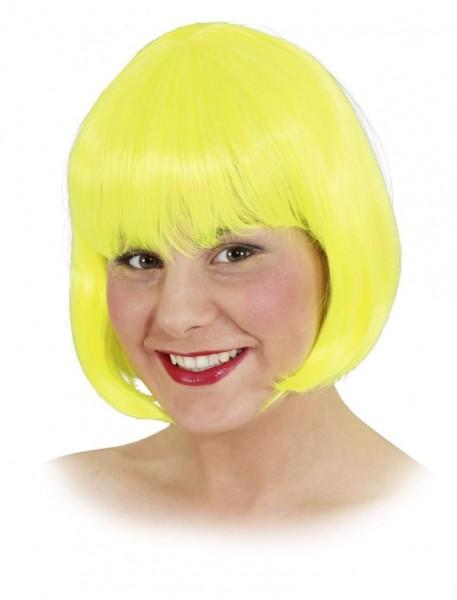 Perücke Sexy Lola, neon-gelb