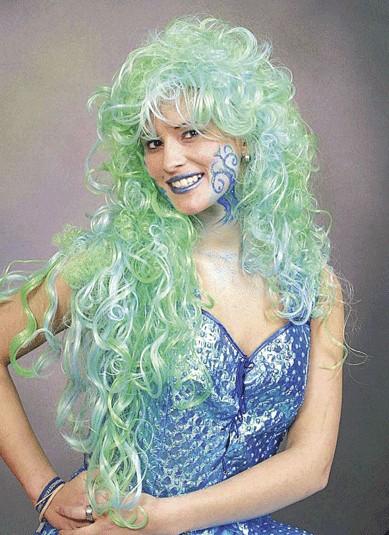 Perücke Meermaid