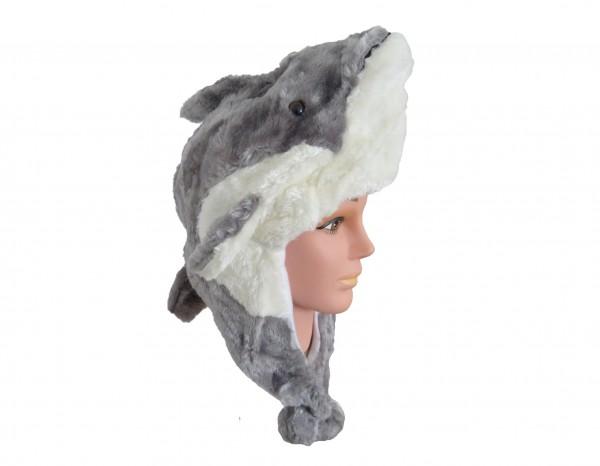 Tiermütze Plüsch Mütze Delfin