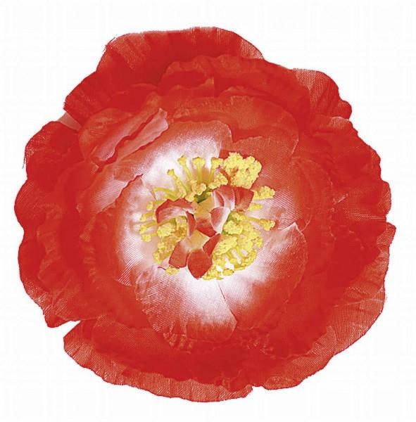 Hawaiiblume mit Clip, rot