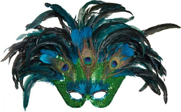 Faschings Maske: Paradiesvogel Maske