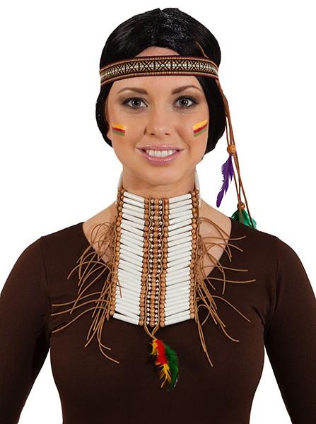 Faschingszubehör Indianer Brustschmuck