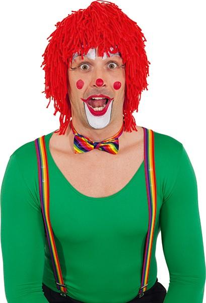 Faschingsperücke Clown Wolle, rot
