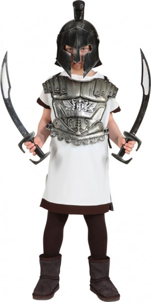 Faschingskostüm Kinder Gladiator Hemd - Größe: 116/128 - 140/152