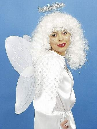 Weihnachten Engel-Set (Flügel, Haarreif mit Heiligenschein)