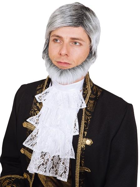 Herren Perücke, grau (ohne Bart)