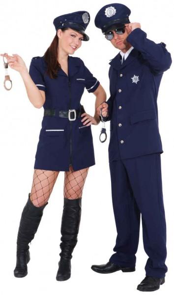 Polizist (Jacke, Hose und Krawatte) - Größe: 46/48 - 58/60
