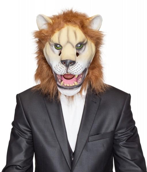 Fasching Maske Löwe (Gummimaske)