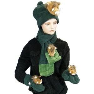 Plüsch Winterset Wildschwein (Schal, Mütze, Handschuhe)