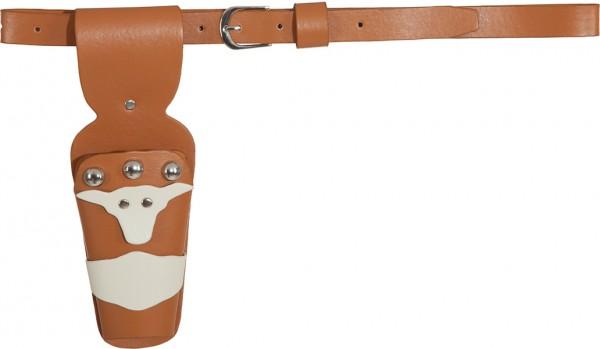 Cowboy Gürtel Ranger, braun (mit 1 Pistolentasche)