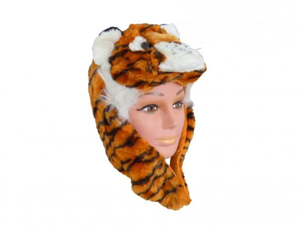 Tiermütze Plüsch Mütze Tiger