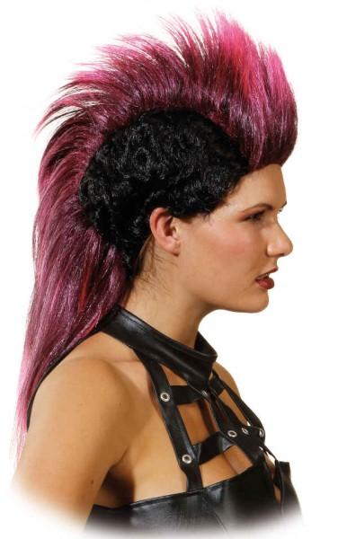 Perücke Cherokee, schwarz-pink