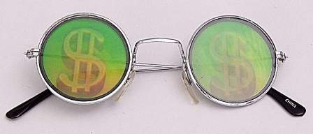 Faschingszubehör Brille Dollar