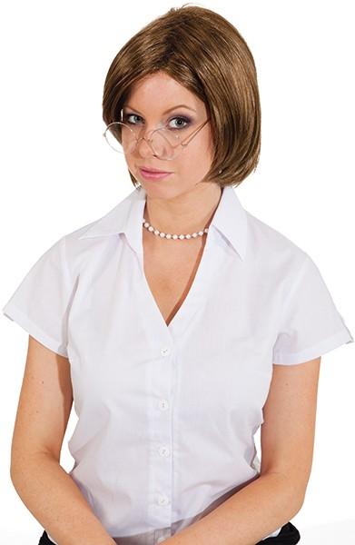 Perücke Damen/Herren: Jessy braun (unisex) verstellbar