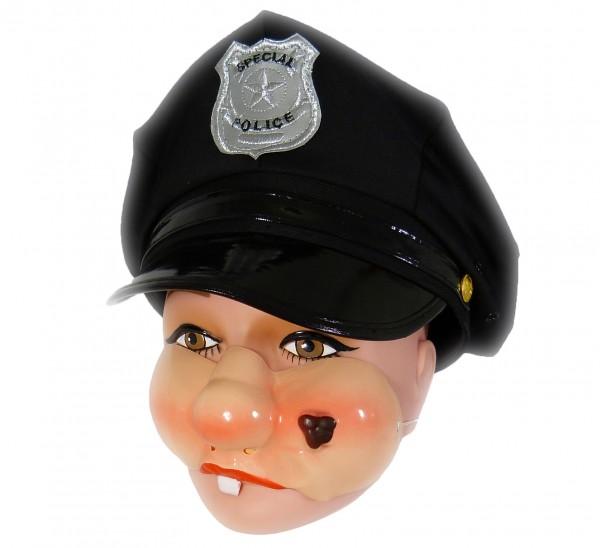 Maske Pausbäckchen mit Warze