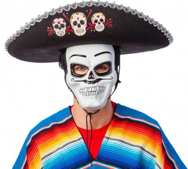 Sombrero schwarz mit Totenköpfen, KW 60