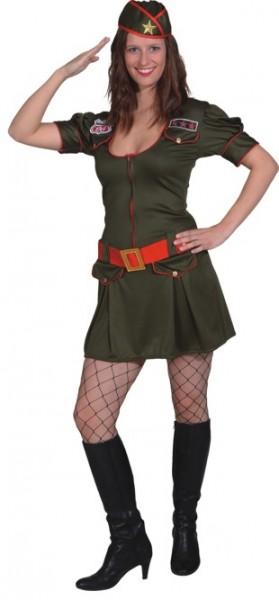 Military Girl (Kleid, Gürtel, Mütze) in den Größen 34/36 bis 42/44